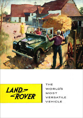 LAND ROVER SERIES 1 SWB REGULAR RETRO A3 POSTER PRINT FROM CLASSIC ADVERT