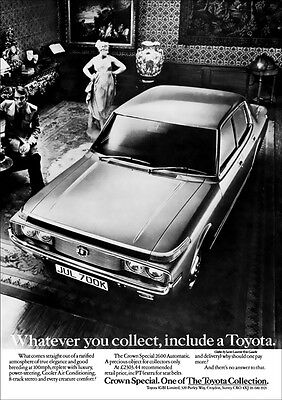 TOYOTA CROWN S60 RETRO POSTER A3 PRINT FROM CLASSIC 70'S ADVERT