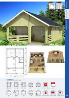 720 sq/ft log cabin - cottage kit plus deck on Sale til Dec 31