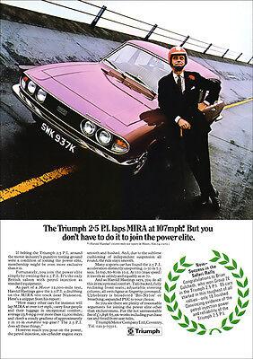 TRIUMPH 2.5 PI MK2 SALOON RETRO A3 POSTER PRINT FROM 70'S ADVERT