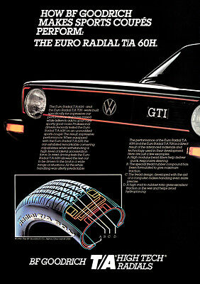 VW GOLF GTI MK1 RETRO POSTER A3 PRINT FROM CLASSIC 80'S ADVERT