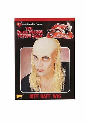 Riff Raff Wig (RIFF RAFF ROCKY HORROR BUTLER LONG BLONDE WIG BALD CAP COSTUME DRESS)