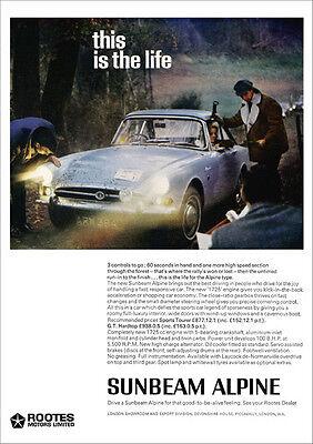 SUNBEAM ALPINE RETRO A3 POSTER PRINT FROM CLASSIC 1966 ADVERT