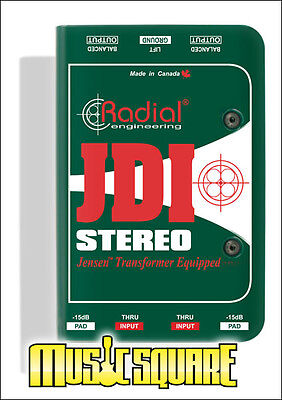 Radial Engineering JDI STEREO Passive Jensen Equipped Direct Box NEW MODEL!