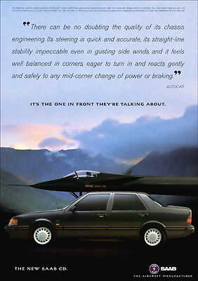 SAAB 9000 RETRO A3 POSTER PRINT FROM CLASSIC 80'S ADVERT