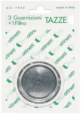 Seals and Filter for Coffee Makers Type Bialetti Size 2 Cups 3+1