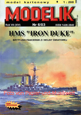 "Modelik  6/03 - Schlachtschiff HMS ""Iron Duke"" - 1:200"