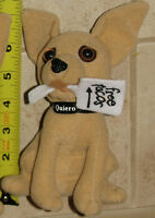 Vintage Taco Bell Plush Talking Toy Dog - Free Tacos Sign