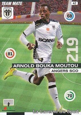 042 Arnold Bouka Moutou Congo Sco.angers Tarjeta Adrenalyn 2016 Panini Camiseta image