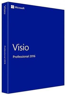 2016 Microsoft Visio Professional -- Genuine Version