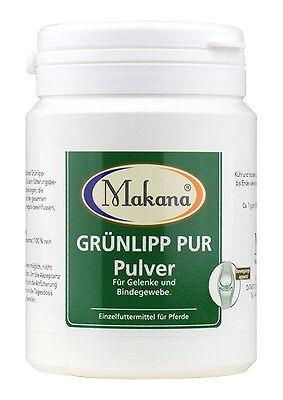 Pulver-konzentrat (Makana Grünlipp Pur Grünlippmuschel Pulver Konzentrat 100 % rein 100 g Pferde)
