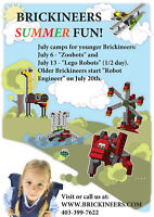 July Summer Camps:  Lego and VEX Robotics and Engineering!