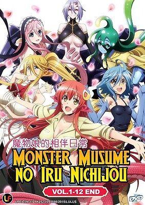 MONSTER MUSUME NO IRU NICHIJOU TV | Eps. 01-12 | English Subs | 1 DVD (M2278)