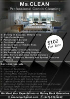 Ms.ClEAN Condo Cleaning Service - ONLY $100- CALL TODAY!