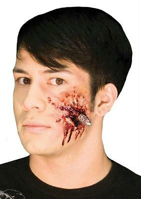 WOOCHIE BULLET HEAD GUN SHOT WOUND BLOODY PROSTHETIC COSTUME MAKEUP KIT CSEZ157