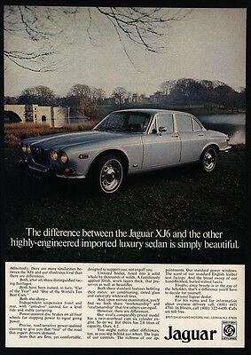 1973 JAGUAR XJ6 Luxury Sedan - Simply Beautiful Car - VINTAGE AD