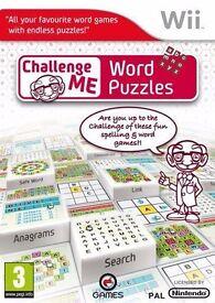 Challenge Me: Word Puzzles Nintendo Wii Game