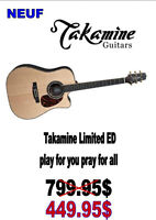 NEUF...GUITARE TAKAMINE .( LIMITED EDITION ) ...$449.95