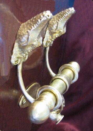 ALLIGATOR, GATOR or CROCODILE Bronze DUET Door Knocker