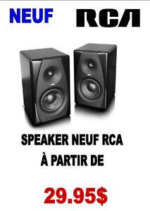 NEUF ...HAUT PARLEUR RCA ( paire ) ..$29.95