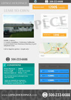 LEASE TO OWN in DIEPPE starts 1200$/month