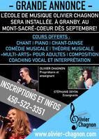 Cours de chant, piano et composition musicale