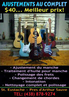 GUITAR SETUPS ~ UNBEATABLE PRICE ~ SAME DAY SERVICE!