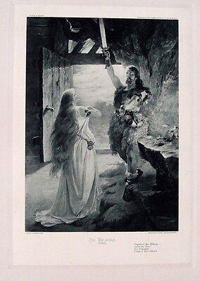 Ferdinand Leeke Richard Wagner Walküre Siegmund Schwert Sieglinde Schwester Sage