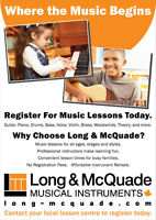 Music Lessons: guitar, drums, ukulele, harmonica, violin etc...