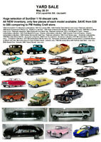 1/18 Diecast cars sale, all new inventory. May 30-31, Calgary