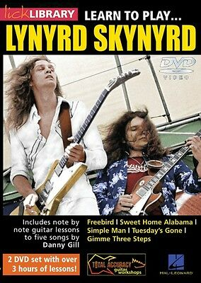Learn to Play Lynyrd Skynyrd Lick Library DVD NEW 000125871 on Rummage