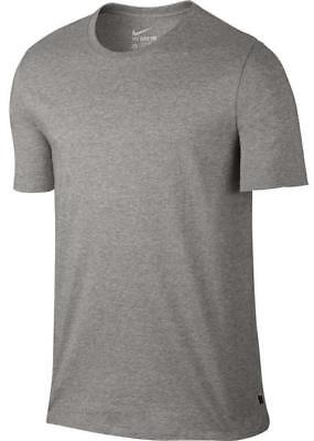 Nike Men's SB CTN ESSENTIAL SHORT SLEEVE T-SHIRTS Dark Grey Heather 844806-063 c