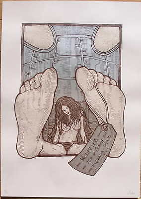2007 Wolf Eyes - Milan Silkscreen Concert Poster s/n by Malleus