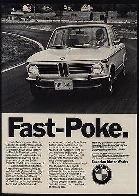 1973 BMW 2002 Sports Car - Fast Poke - VINTAGE ADVERTISEMENT