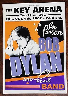 ORIGINAL 2002 Seattle,Washington Key Arena Bob Dylan in Concert poster-VERY COOL