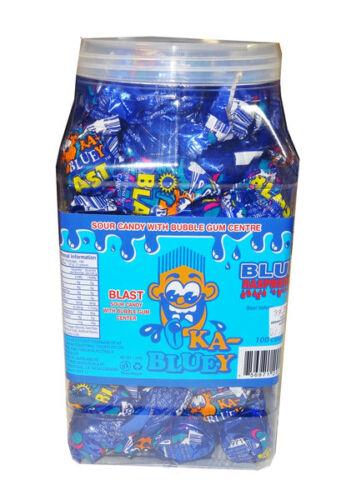 905051 1.3kg TUB KA BLUEY KA-BLUEY SOUR CANDY WITH BUBBLE GUM CENTRE BLUE PACKET