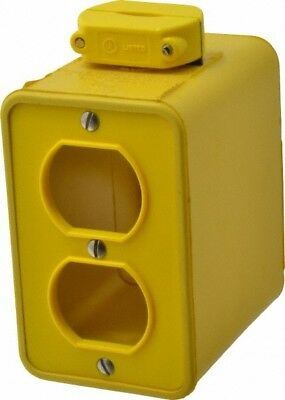 Woodhead Electrical Rubber Rectangular Portable Outlet Box 1 Gang
