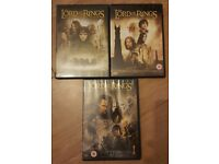 Lord of the Rings trilogy DVDs