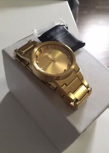 Mens Gold Nixon Cannon Watch