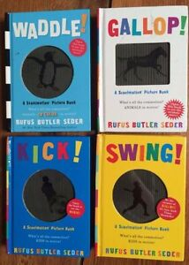 WADDLE, GALLOP, KICK, SWING - board books! $3 each or 4 for $10