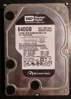 Western Digital 500GB and 640GB, and Seagate 500GB Hard Drives