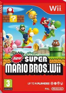 New Super Mario Bros Wii - Nintendo Wii - New - Sealed