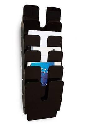 DURABLE Wand Prospekthalter FLEXIPLUS 6 6 Fächer DIN A4  schwarz Hochformat