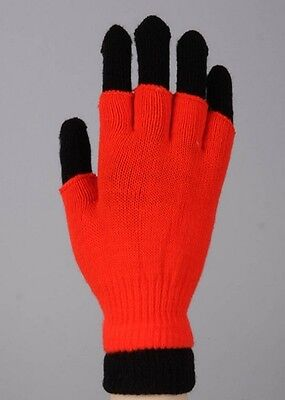 New Women's Yelete Solid Neon Color Double Layer Winter Gloves One - Neon Gloves