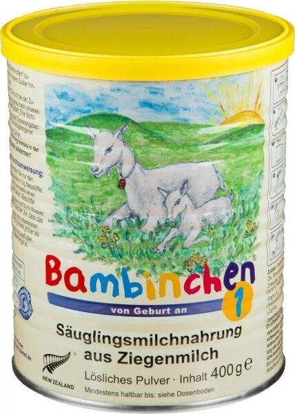 Bambinchen 1 Säuglingsnahrung, 6 Dosen, Ziegenmilch Babynahrung