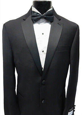 Black Calvin Klein Mens Fashion 2 Button Tuxedo Wool Jacket Tux Blazer Overstock Calvin Klein 2 Button Tuxedo