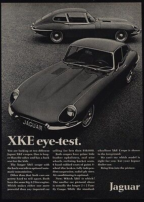 1968 JAGUAR XKE - XK-E Coupe - Sports Car - Eye Test - VINTAGE AD