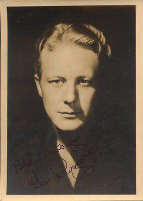 "Gene Raymond 1908-98 true autograph 5""x7"" Vintage photo signed"