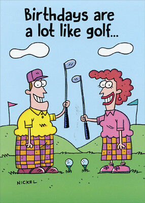 - Birthdays Are Like Golf Funny Birthday Card - Greeting Card by Oatmeal Studios