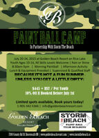 Youth Paintball Camp at Golden Beach Resort